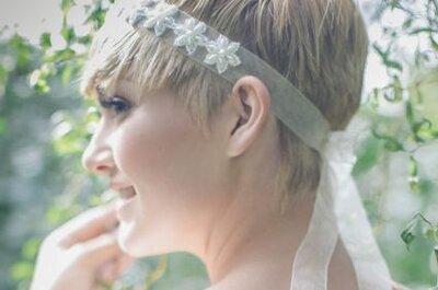 Peinados de novia para chicas con cabello corto