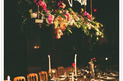 Lo último en decoración de boda: ¡detalles colgantes!