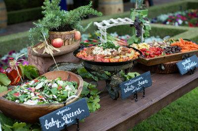 El buffet en las bodas: Todo lo que debes saber sobre esta tendencia y nuevo estilo de banquete