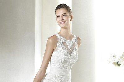 Vestidos de novia escote ilusión: ¡Atrévete a lucirlo!