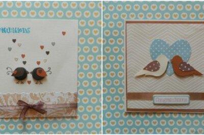 Lovebirds, czyli zakochane ptaki na kartkach ślubnych - DIY