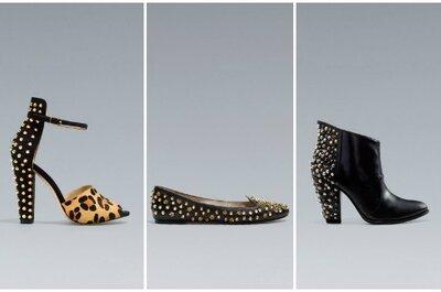Pazze per le scarpe con le borchie? Da Zara il trend per l'invitata di nozze invernale è low cost!
