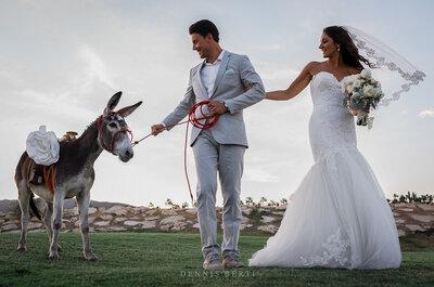 Real Wedding: La boda espectacular de Danielle y Kyle en Cabo del Sol con música de mariachi