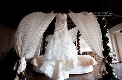 Fotos al vestido de novia previas a la boda