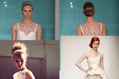 Tendências para penteados de noiva 2013 - New York Bridal Week