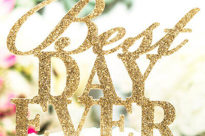 Dourado e glitter no seu casamento de inverno: detalhes que brilham