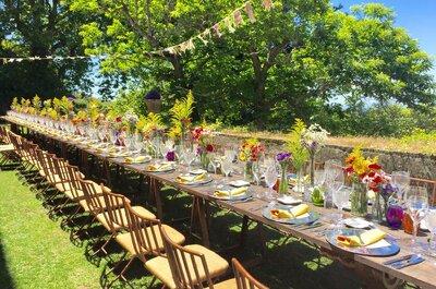 Sabores estivais: a ementa perfeita para um casamento de verão