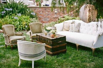Mobiliario original y único: Todas las tendencias para decorar tu boda con estilo inigualable... ¡Factor Wow!