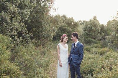 La novia de la corona de flores: la boda de Ariadna y David