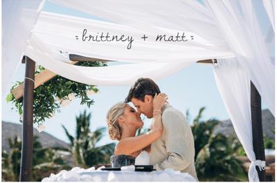 Quiero perderme en ti: La boda de Brittney y Matt