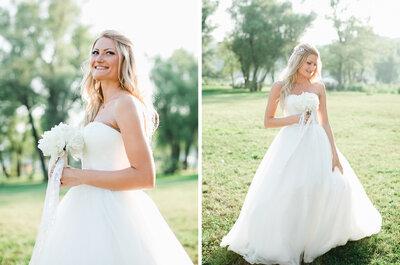 Свадебная прическа для современной невесты