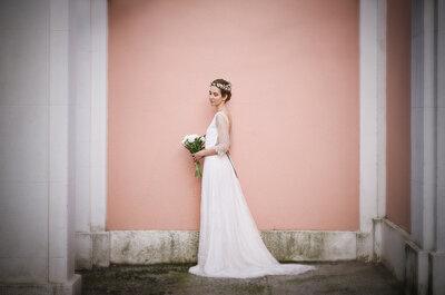 Sutileza en estado puro: vestidos de novia para mujeres románticas y muy naturales