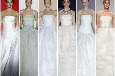 Vestidos de novia palabra de honor 2013, elegimos los mejores para tí