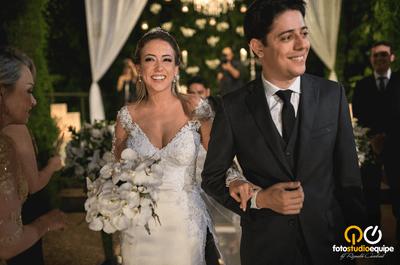 Helena & Leandro: casamento clássico ao ar livre e festa com iluminação de sonhos!