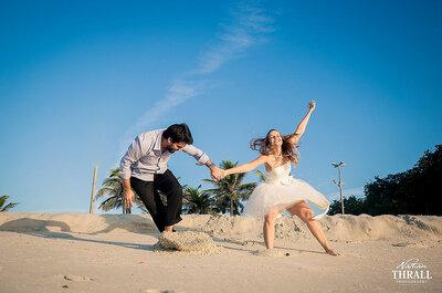 Playa, bosque o montañas. Elige el lugar soñado para tus fotos de boda