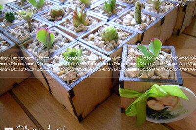 Tendencias naturales: recuerdos de boda ecológico