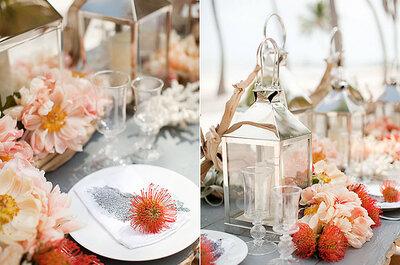Hochzeitsdeko in verschiedenen Farben