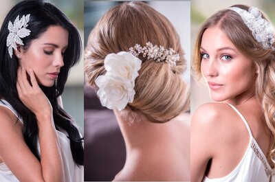 4 tocados de novia especiales para verte espectacular en tu boda. Descúbrelos con Estilo Novia