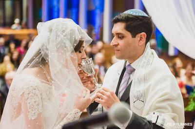Casamento Judaico de Dani & Eduardo: cerimônia tradicional seguida de SUPER festa no Rio de Janeiro