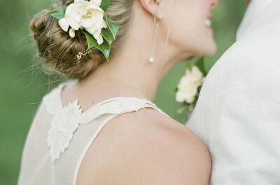 Свадебные прически 2015. Низкий хвост опять в моде!