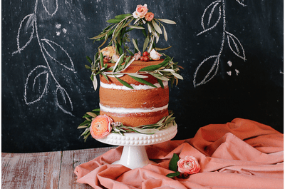El naked cake, la tendencia más deliciosa en pasteles de boda 2014