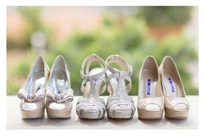 Três pares de sapatos para uma noiva romântica portuguesa
