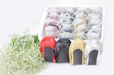 Bailarinas Plegables: estética y comodidad unidas para obsequiar a tus invitadas de boda