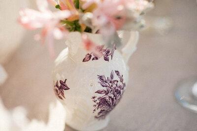 Para agua y algo más: Las jarras y los jarrones se convierten aliados obligados de una decoración de boda perfecta