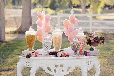 Con una mesa de dulces endulzarás a todos los invitados ¡Atrévete con una!