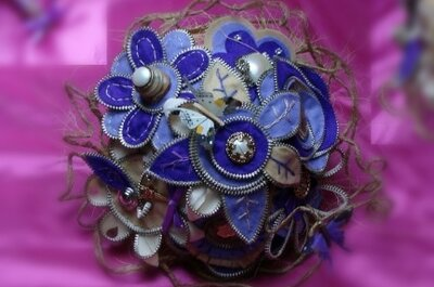 Bruidsboeket zonder bloemen: snoepjes, stofjes en bonbons!