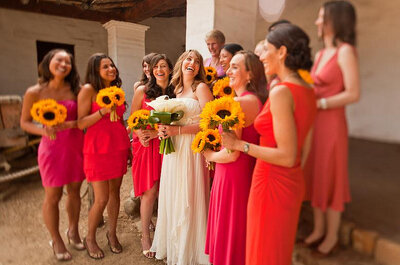Herrliche Sonnenblumen als Hochzeitsdekoration