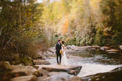 Romance y naturaleza en una boda en las montañas