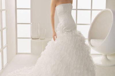 Suknie ślubne z falbanami – kolekcja Two, Rosa Clara 2013