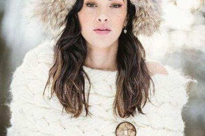 Зимние украшения для невест: стильно и тепло
