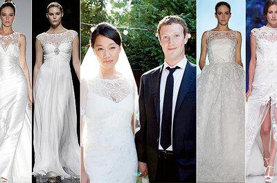 Escote de moda para novias 2013: escote ilusión