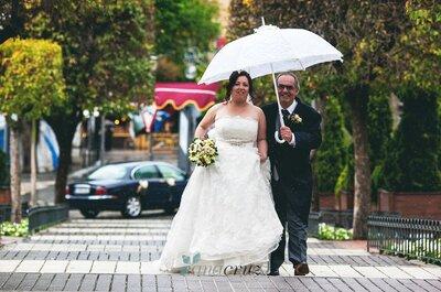 Detalhes de noiva: fotos com guarda-chuva