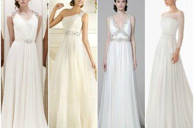 Per il tuo matrimonio estivo punta su un abito da sposa in chiffon! Ecco i migliori delle Collezioni 2013 secondo Zankyou.