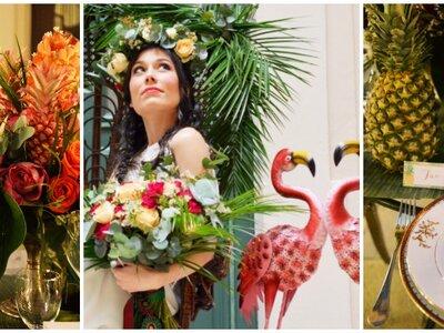 Inspiration mariage exotique à Sète : tropiques et flamants roses