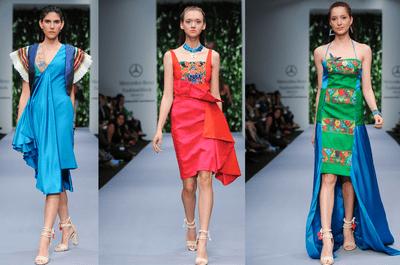 Vestidos de fiesta 2014 de Lydia Lavín en Mercedes Benz Fashion Week México