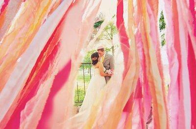 Decoración de una boda 2013 en color rosa fiusha y dorado