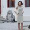 Minidress in raso per Usira Sposa con dettagli ultrafmminili
