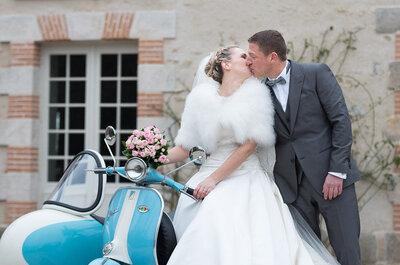 Peggy + Pierre : une demande émouvante à Las Vegas et un mariage sompteux près de Paris