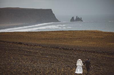 Chłód Islandii i żar miłości! Piękna sesja ślubna! Zachwyca!