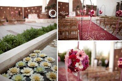 ¿Qué adornos colocar camino al altar en la boda?