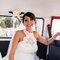 Laura, dettagli del suo originalissimo abito da sposa - Fotografia  Ilaria Corda