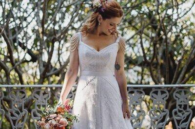 Como escolher o vestido de noiva perfeito para um casamento ao ar livre: anote!
