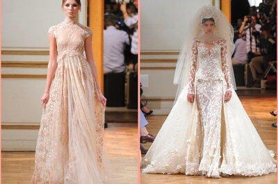 Referências de vestidos de noiva: renda, brilho e fluidez