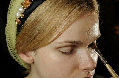 Maquillaje en el 'backstage' de Dolce & Gabbana