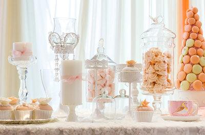 ¿Cómo definir el estilo de la mesa de postres de tu boda?