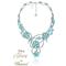 Collar hecho con cristales y piedras preciosas en color turquesa inspirado en Tiana
